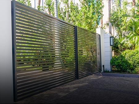 Installed Custom Metal Gate at The Regent by Valentine Glass & Metals (VGM)