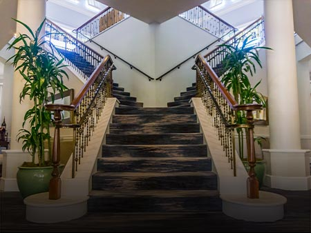 Installed Custom Metal Stairway at Tiburon Golf Club by Valentine Glass & Metals (VGM)