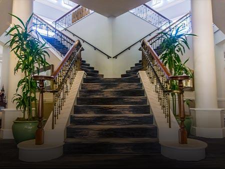 Installed Custom Metal Stairway at Tiburon Golf Club by Valentine Glass & Metals (VGM)